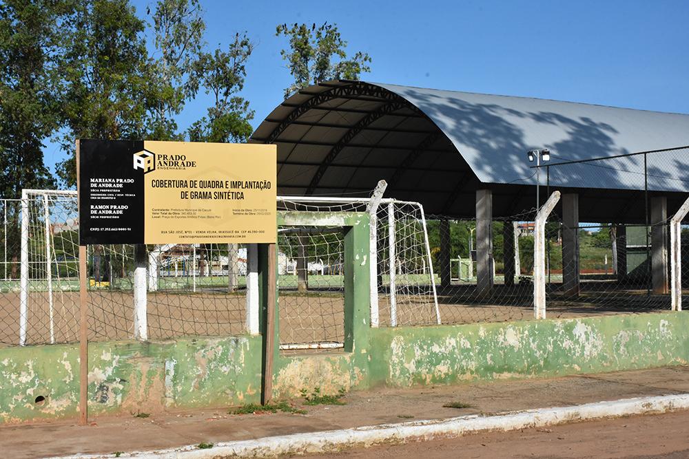 Caculé: Obras da quadra Beira Rio, que deveriam ser concluídas em fevereiro, ainda não foram finalizadas