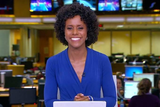 Jornalista Maria Júlia Coutinho apresentará o Jornal Nacional em alguns sábados (TV Globo/Reprodução)