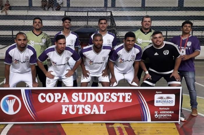 Com gols de Zafan, Zoreia e Weden, Haras goleia Palmas de Monte Alto por 7x4 em sua estreia na Copa Sudoeste de Futsal. Foto: Divulgação.
