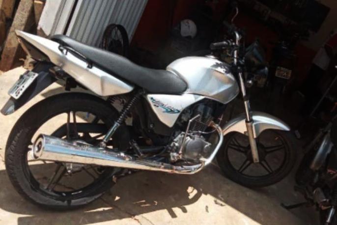 Moto Titan 150 roubada em Caculé na manhã desta segunda-feira (06). Foto: Divulgação.