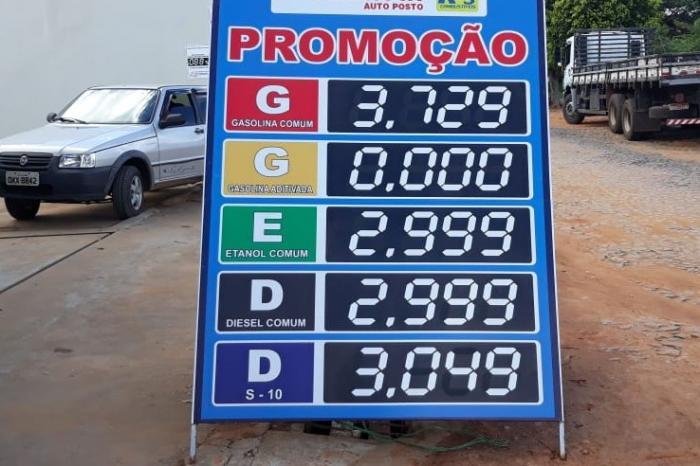 """Caculé: Gasolina chega a R$3,72 e consumidor dispara na internet: """"Vou trocar meu botijão de gás por gasolina"""""""