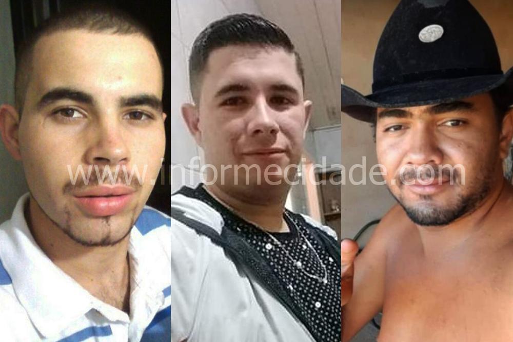 Izaías, Caio e Juninho foram mortos em confronto com a polícia na noite desta qurrta-feira (27) em Caculé.
