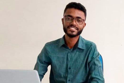 Gabriel Lourenço dos Santos, estudante do curso de Licenciatura em Geografia pela UNEB-Campus VI, em Caetité.