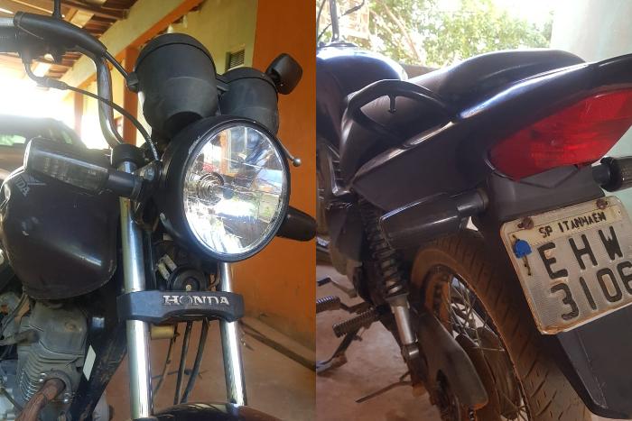 Moto foi furtada na tarde de hoje na Travessa 13 de Maio, em Caculé.