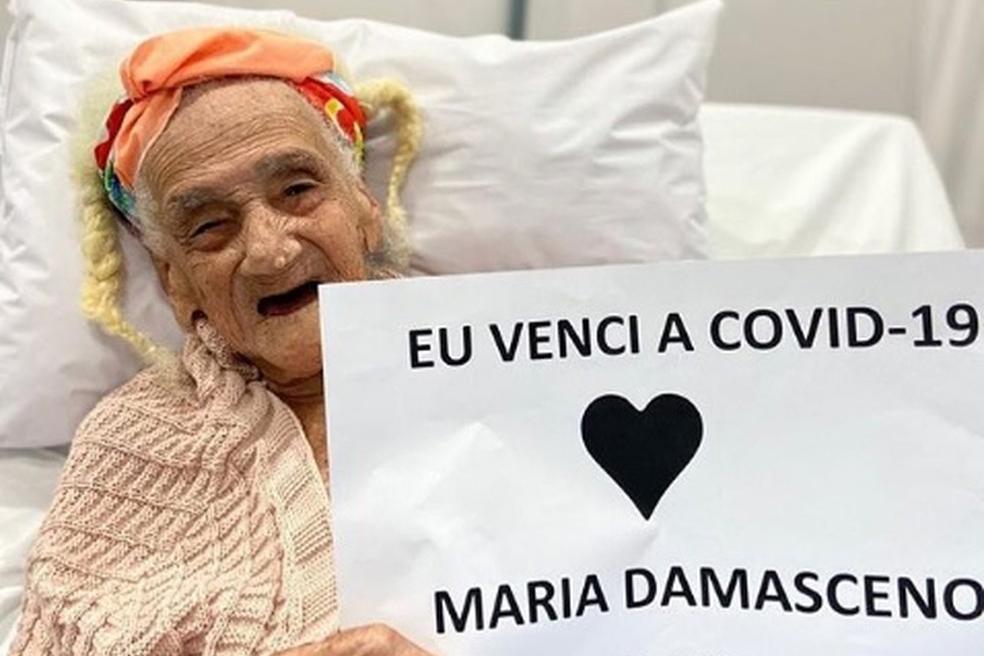 Maria Damasceno estava internada no hospital de campanha montado no Wet'n Wild, na Avenida Paralela.