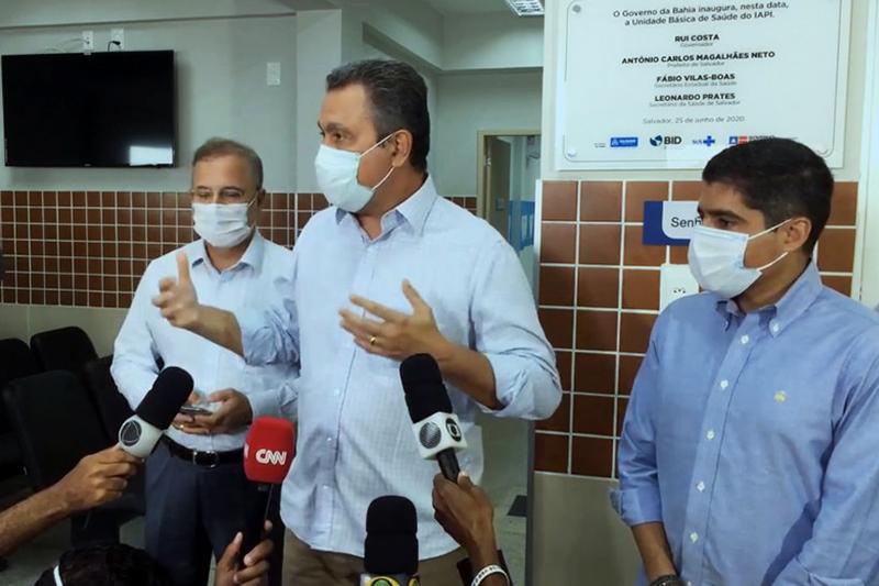 Rui Costa anunciou a adoção do toque de recolher em Itaberaba — Foto: Reprodução / Facebook