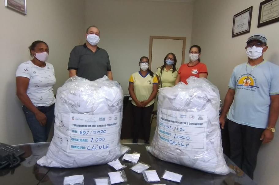 Articulação do vereador Jeovane Costa garante 2.000 máscaras para Caculé