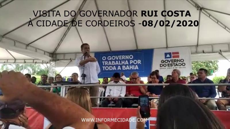 """""""Nós vamos fazer!"""" Diz Rui Costa sobre pavimentação da BA-617 que liga Caculé a Condeúba"""